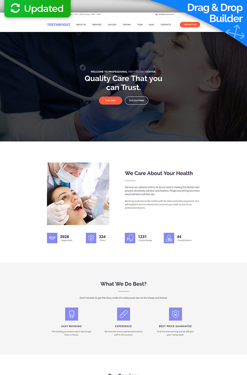 Teethboost Moto CMS 3 Template