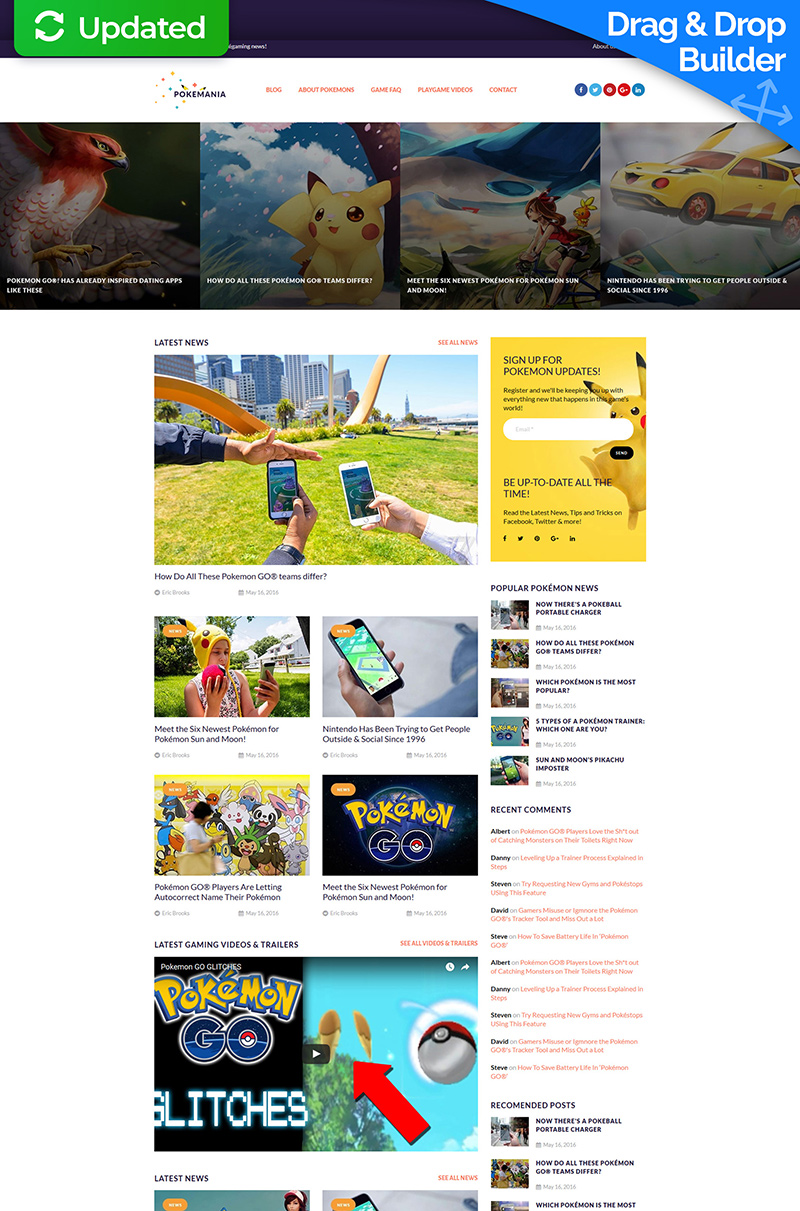 Games Moto CMS 3 Template