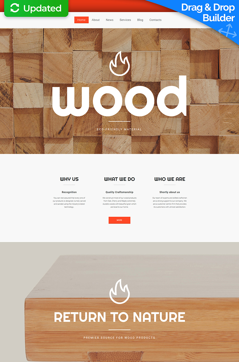 Furniture Responsive Moto CMS 3 Template