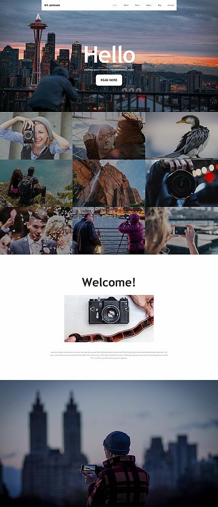 Type Photo Gallery Templates