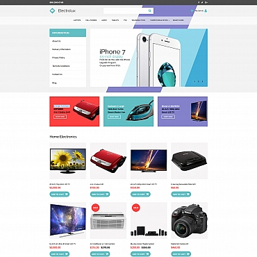 Template Electronice MotoCMS Ecommerce #59527