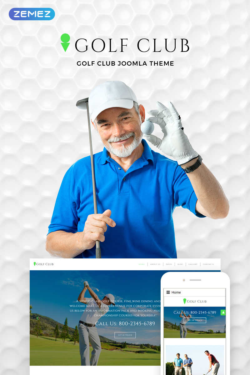 Golf Club - Golf & Sport Joomla Template
