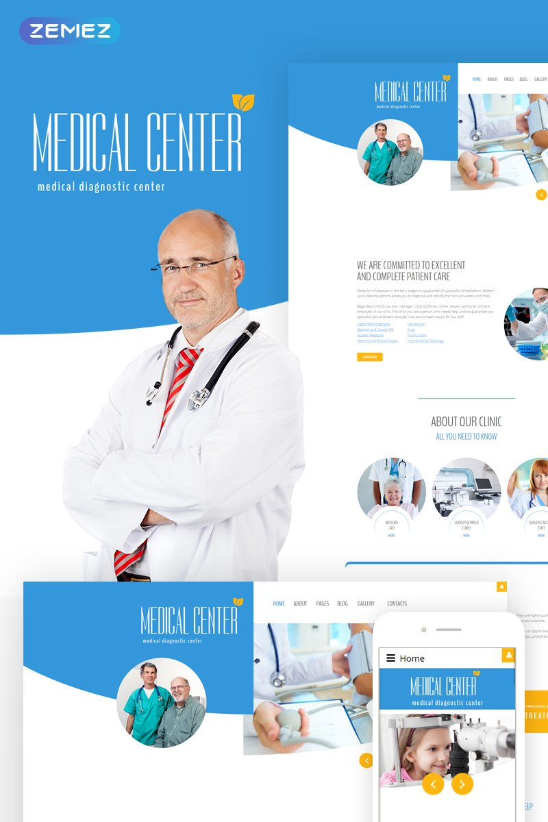 Diagnostic - Medical diagnostic center Joomla Template
