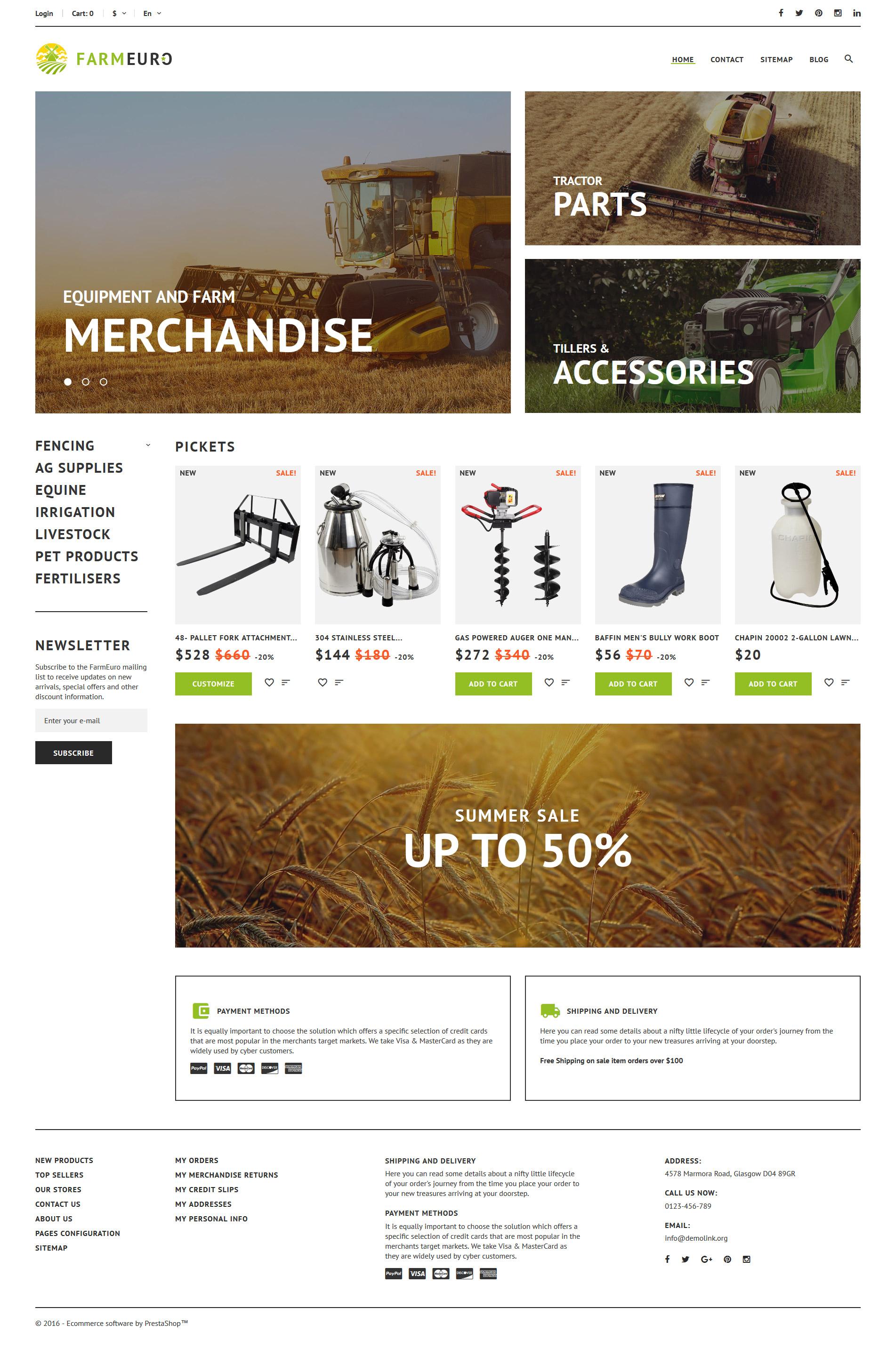 FarmEuro - Agricultural Responsive PrestaShop Theme