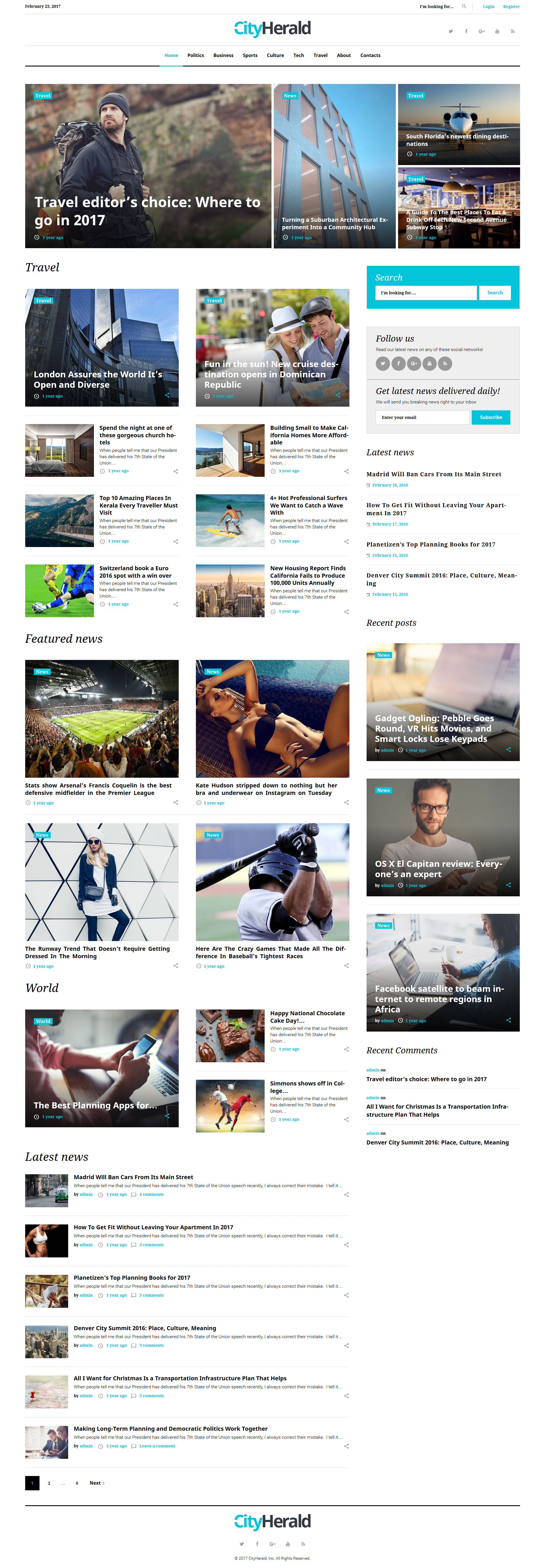 City Herald - Magazine WordPress Theme