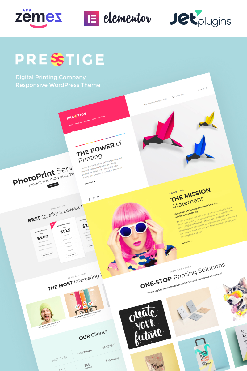 Presstige - Digital Printing Company Responsive WordPress Theme