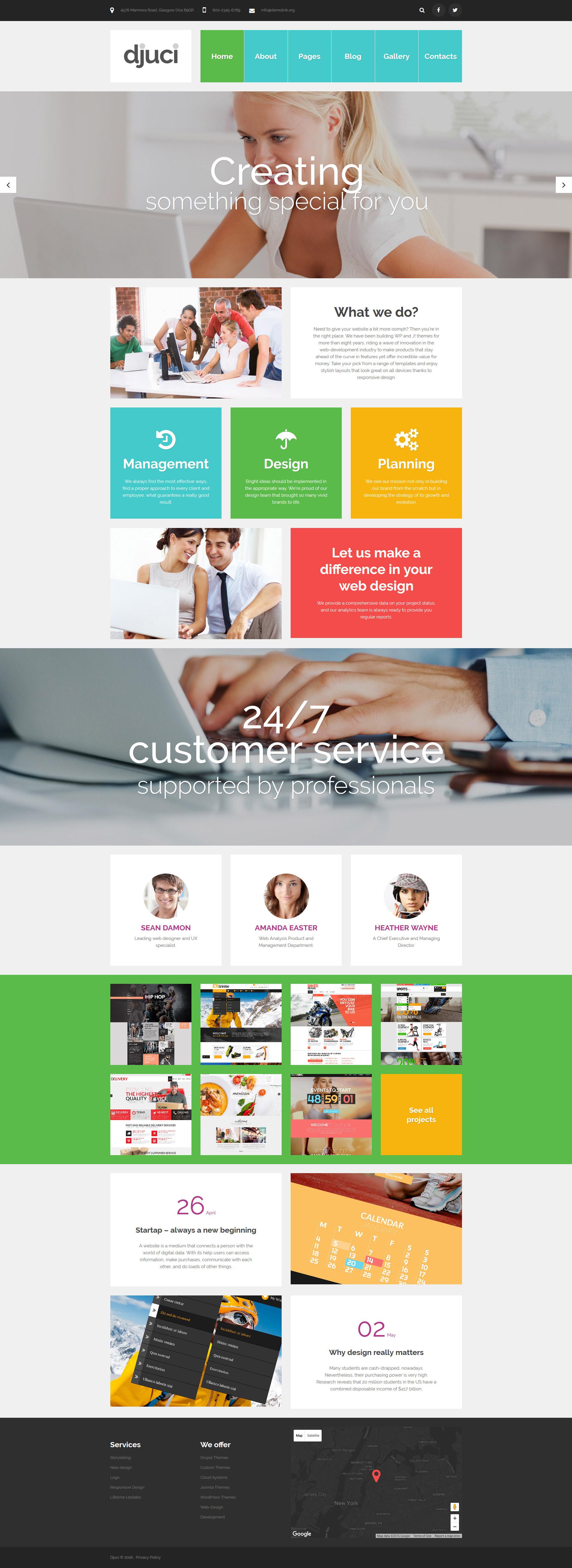 Djuci - Web Design Agency Joomla Template
