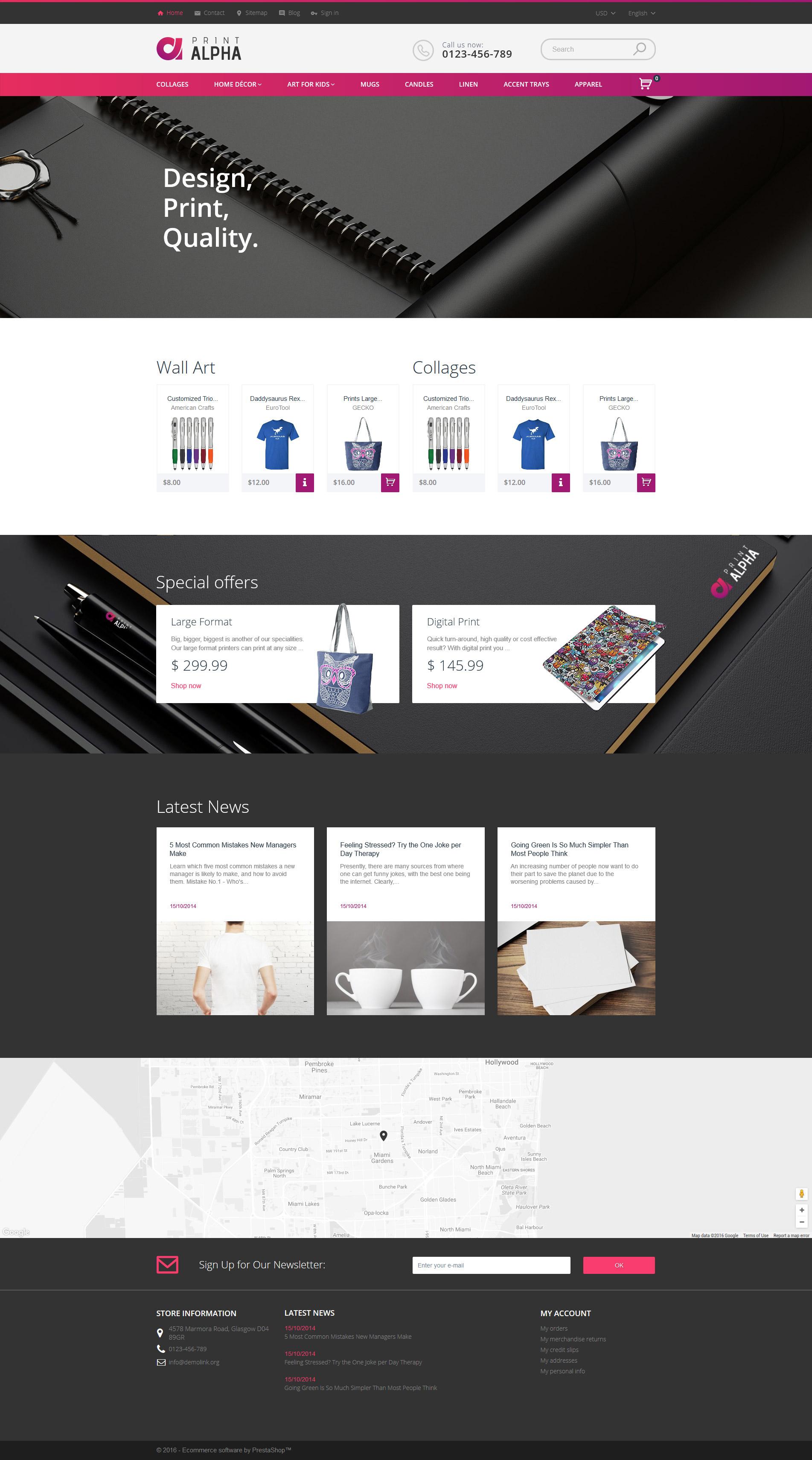Template 61216 : PrintAlpha - Design & Decor PrestaShop Theme