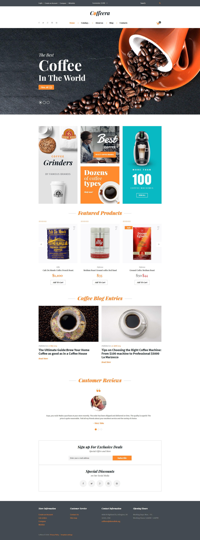 Coffeera VirtueMart Template