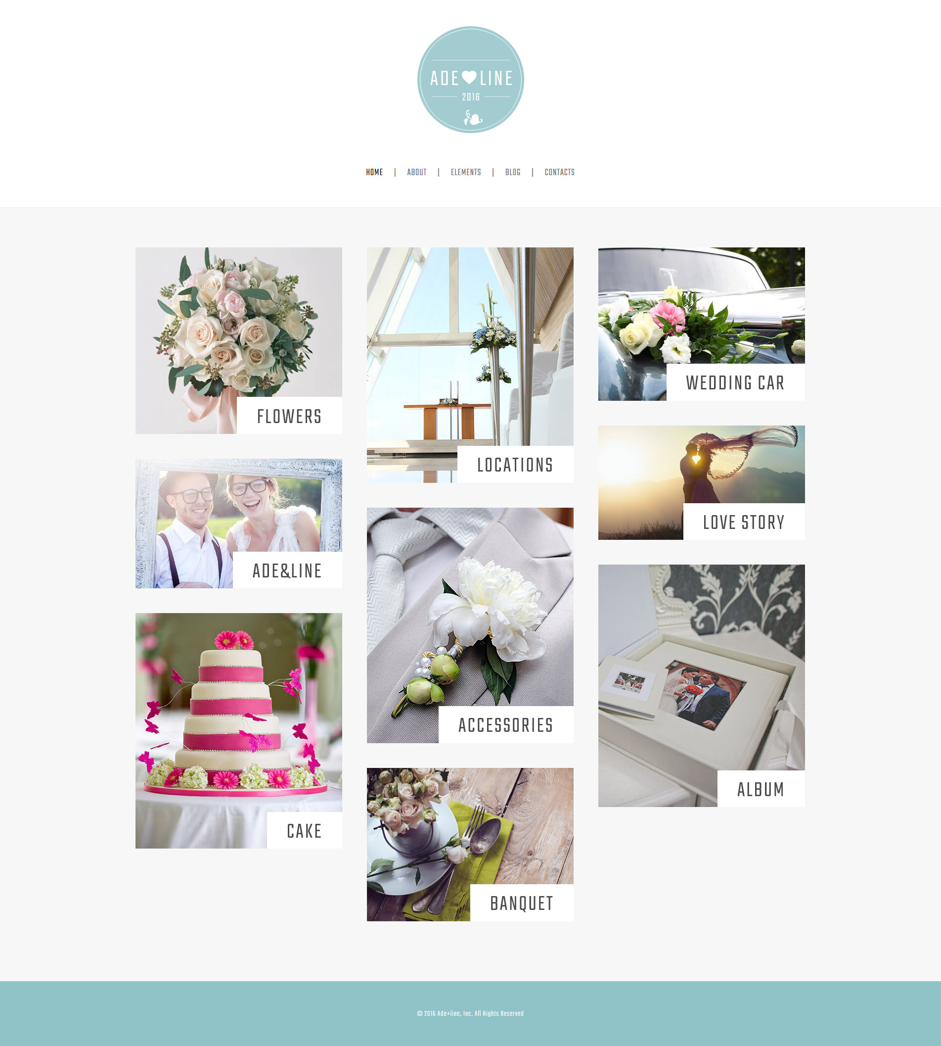 Adeline - Young Couple Photo Album Photography WordPress Theme