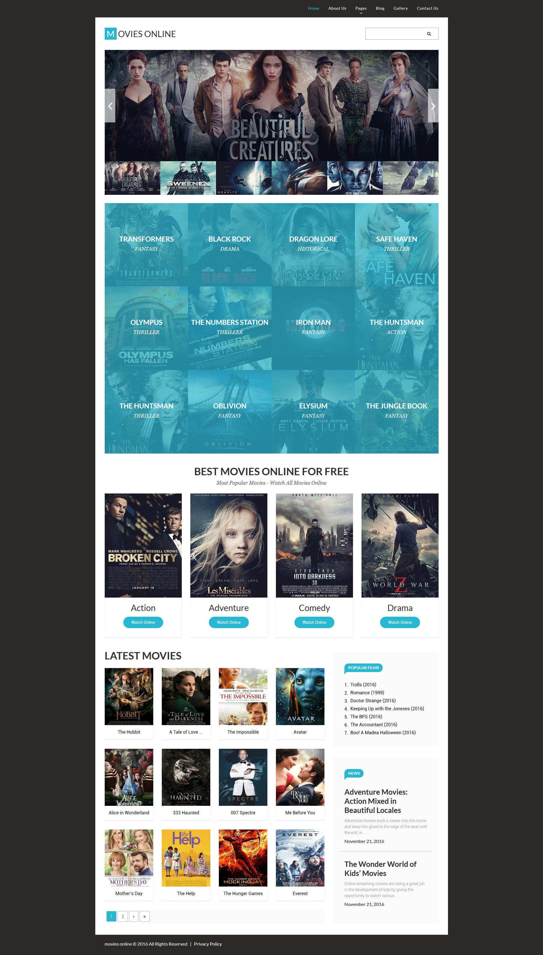 Movie Responsive Joomla Template