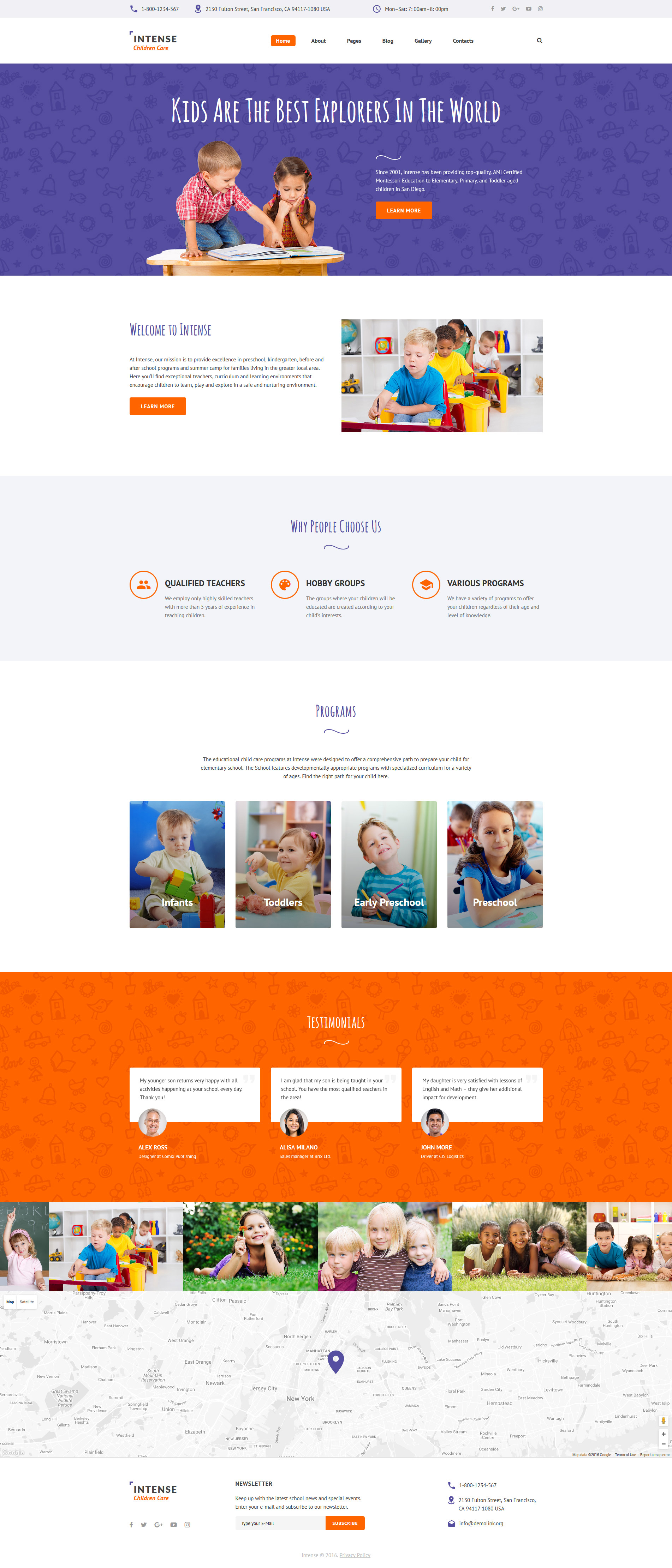 Children Care Responsive Joomla Template