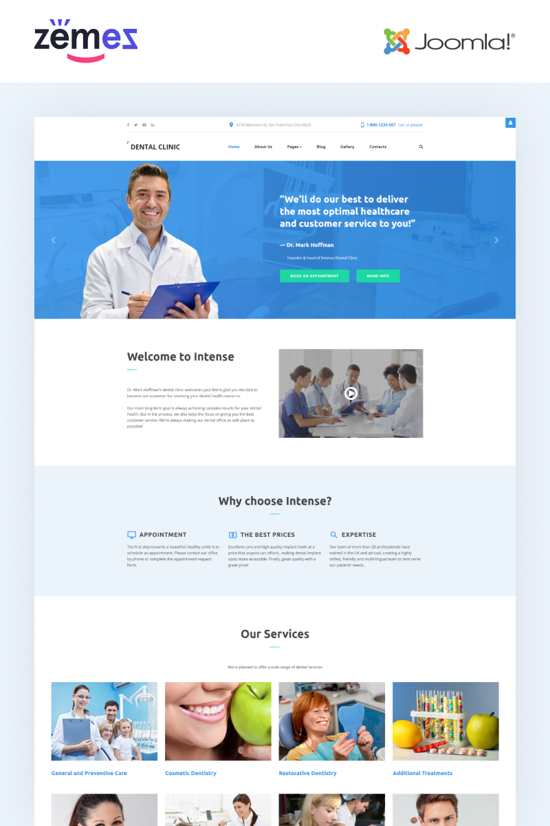 Dental Clinic - Dentistry Responsive Joomla Template