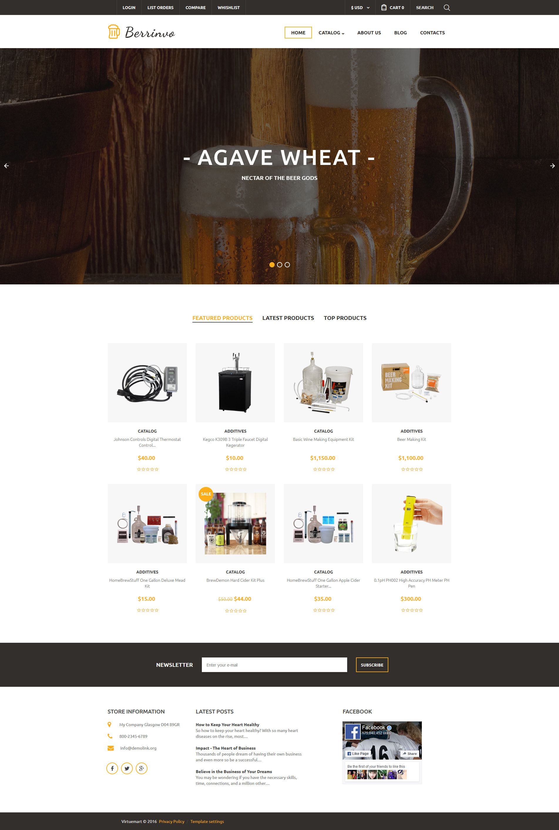 Brewery VirtueMart Template