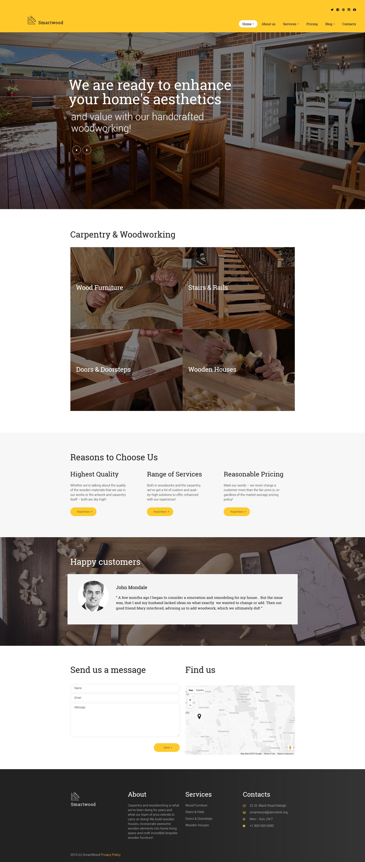 Smartwood - Carpentry & Woodworking WordPress Theme