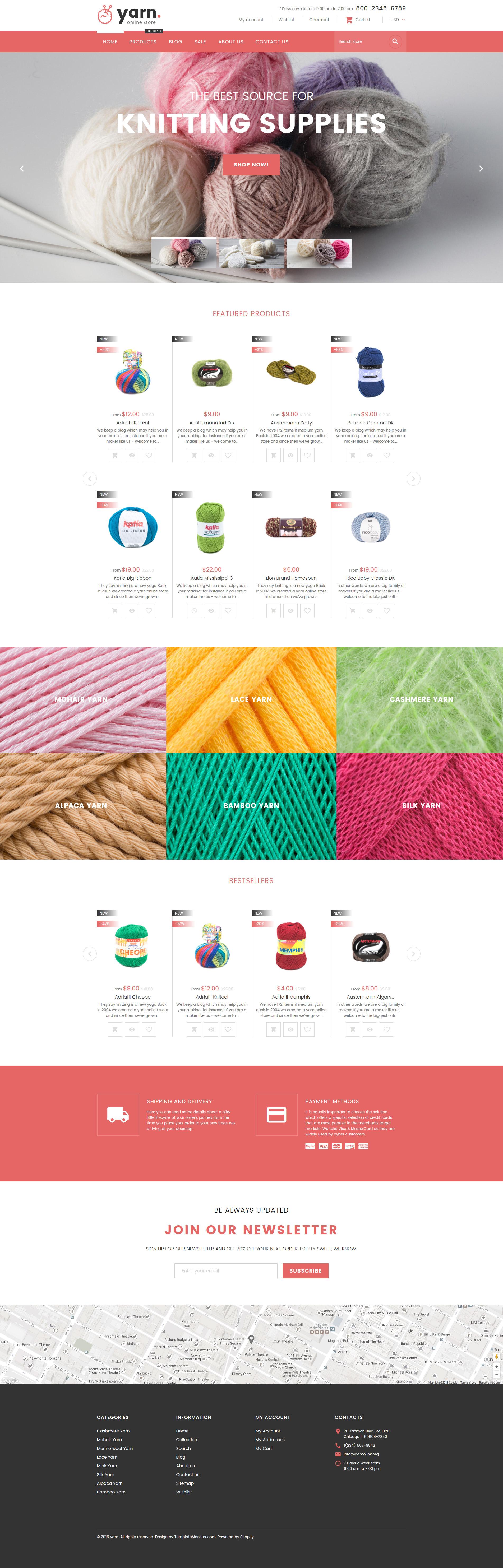Yarn - Knitting Responsive Shopify Theme