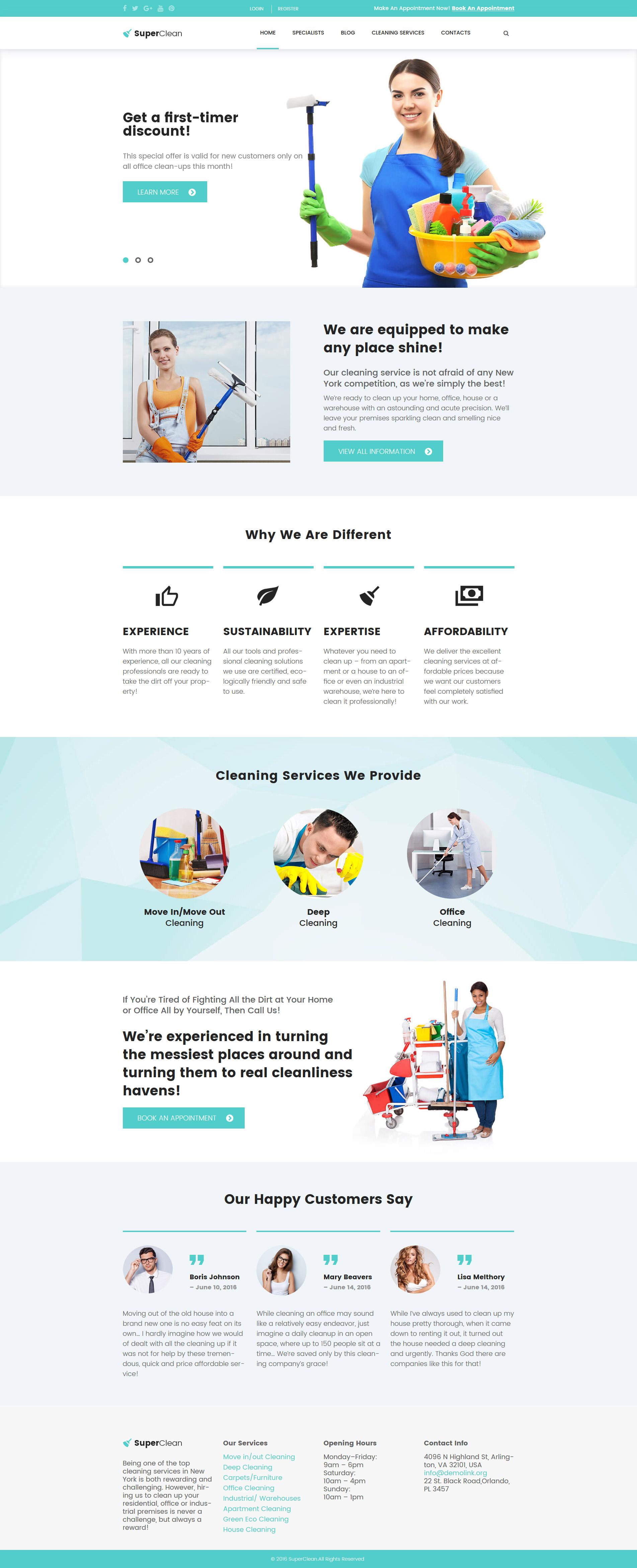 SuperClean - Cleaning & Maintenance Service WordPress Theme