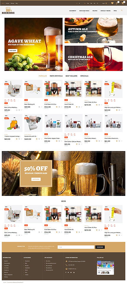 Template 61411 ensegna themes for Brewery layout software