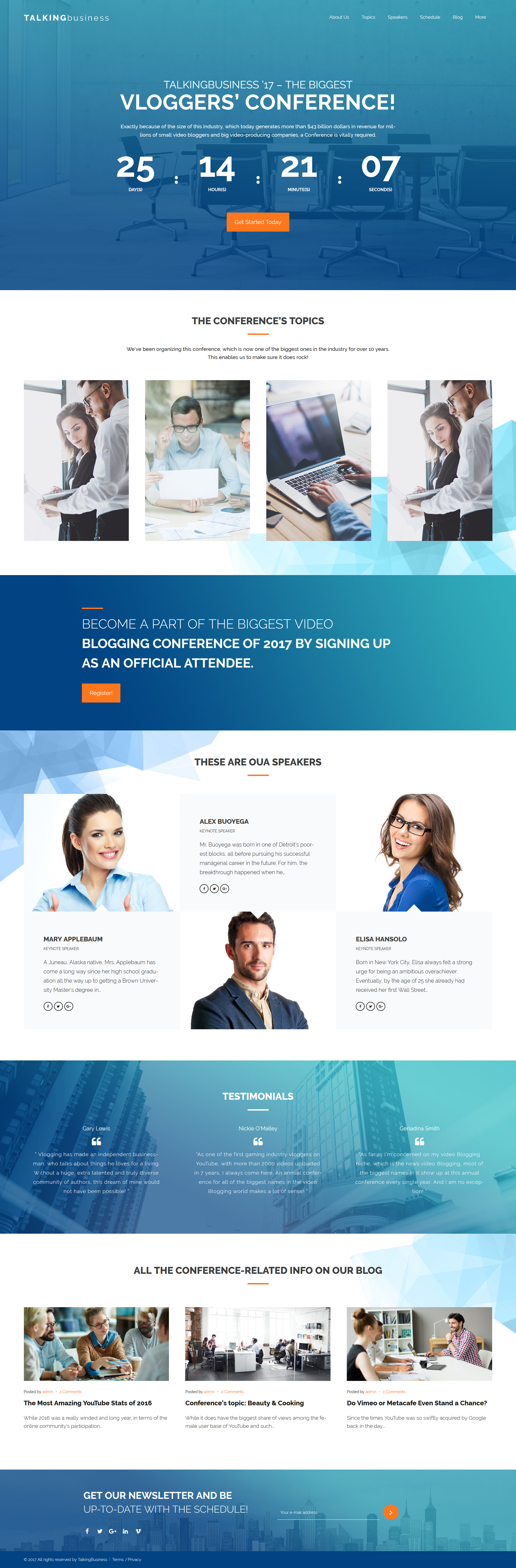 Talking Business - Business Coaching & Consulting WordPress Theme