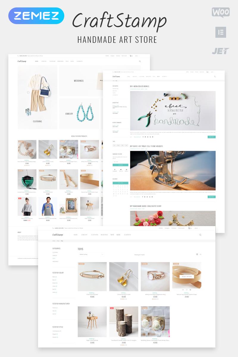 CraftStamp - Handmade Art Store Woocommerce Theme