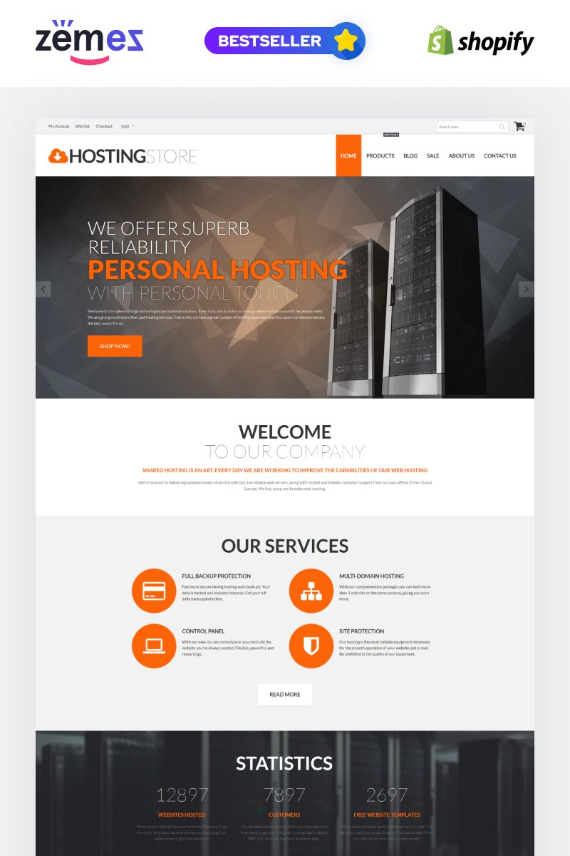 Hosting Store - Hosting & Software Shopify Theme