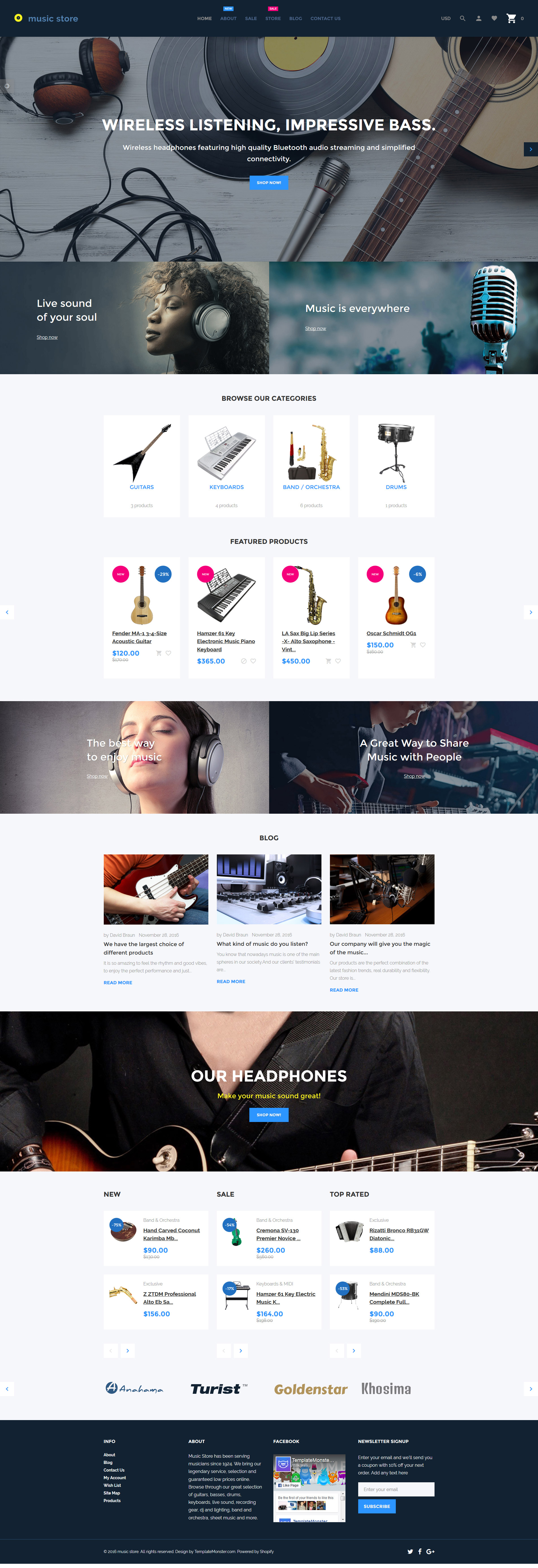 Music Store - Audio & Music Store Shopify Theme