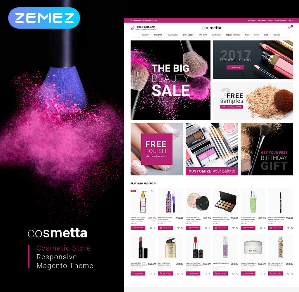 Cosmetta - Cosmetics Store Magento Theme