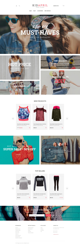 Teen's Clothes & Fashion Magento Theme