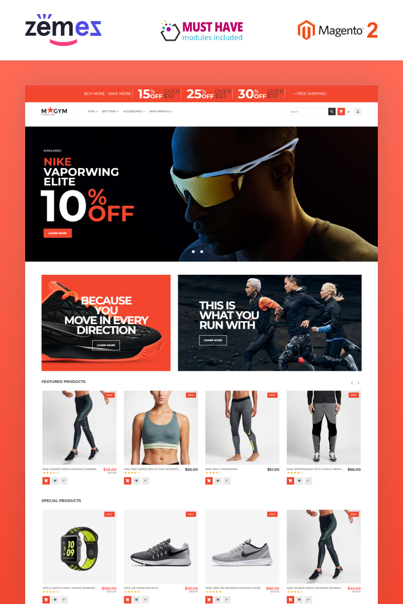 MyGym - Sports Training Gear Store Theme Magento Theme