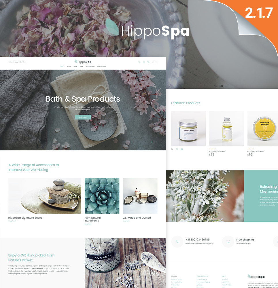 HippoSpa - SPA Store Magento Theme