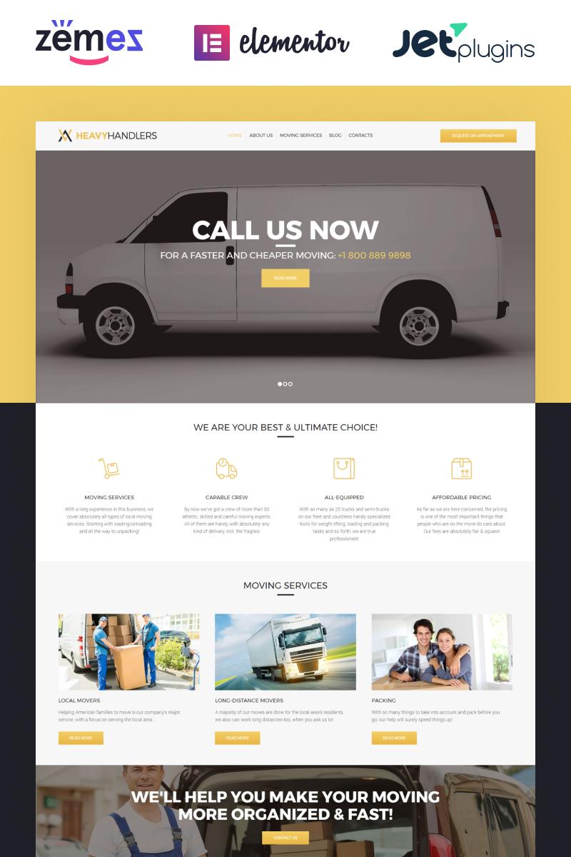 Heavy Handlers - Transportation & Moving Company WordPress Theme