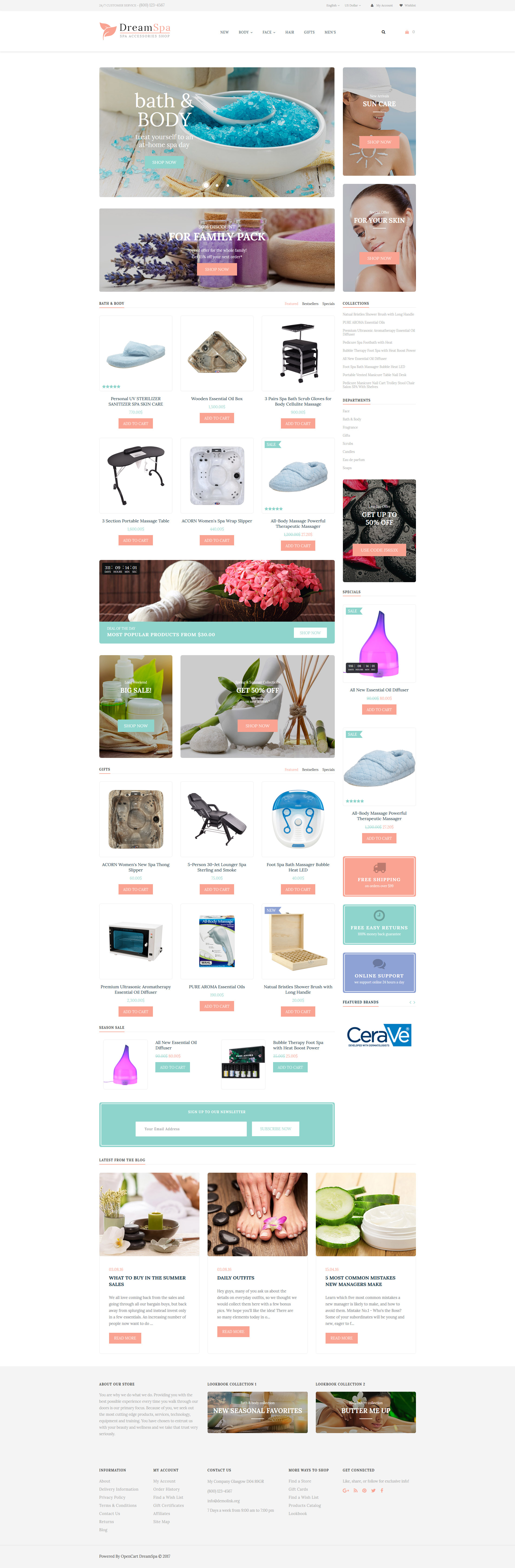 Spa Accessories Responsive OpenCart Template