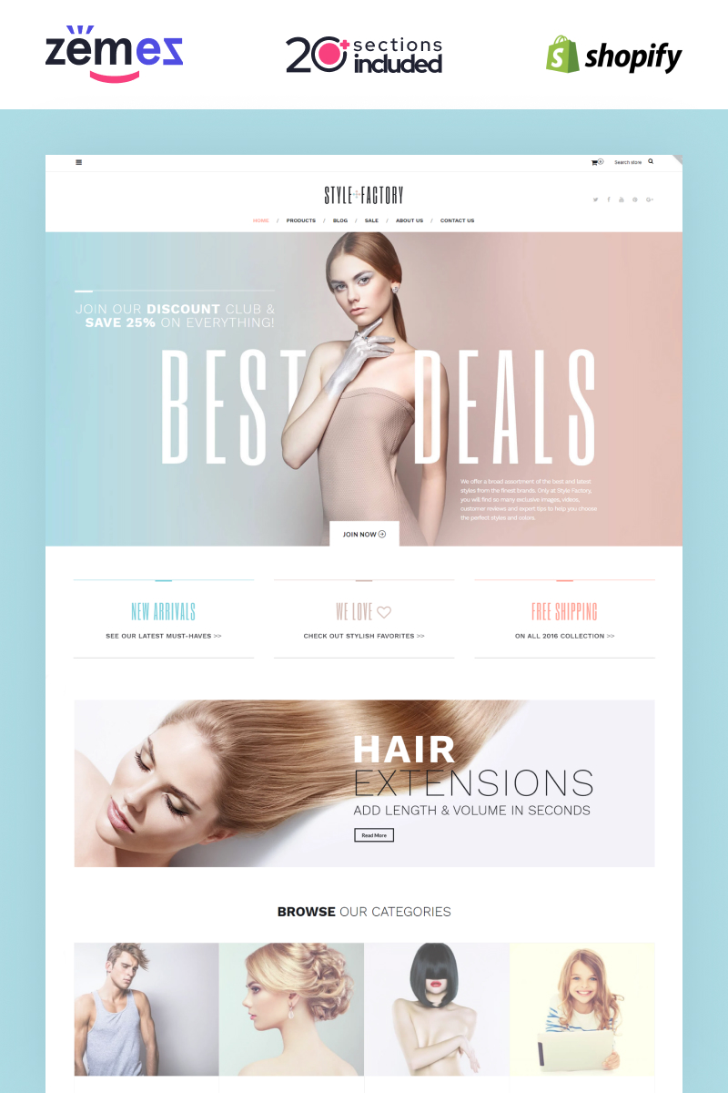 Style Factory - Hair Care & Hair Styling Responsive Shopify Theme