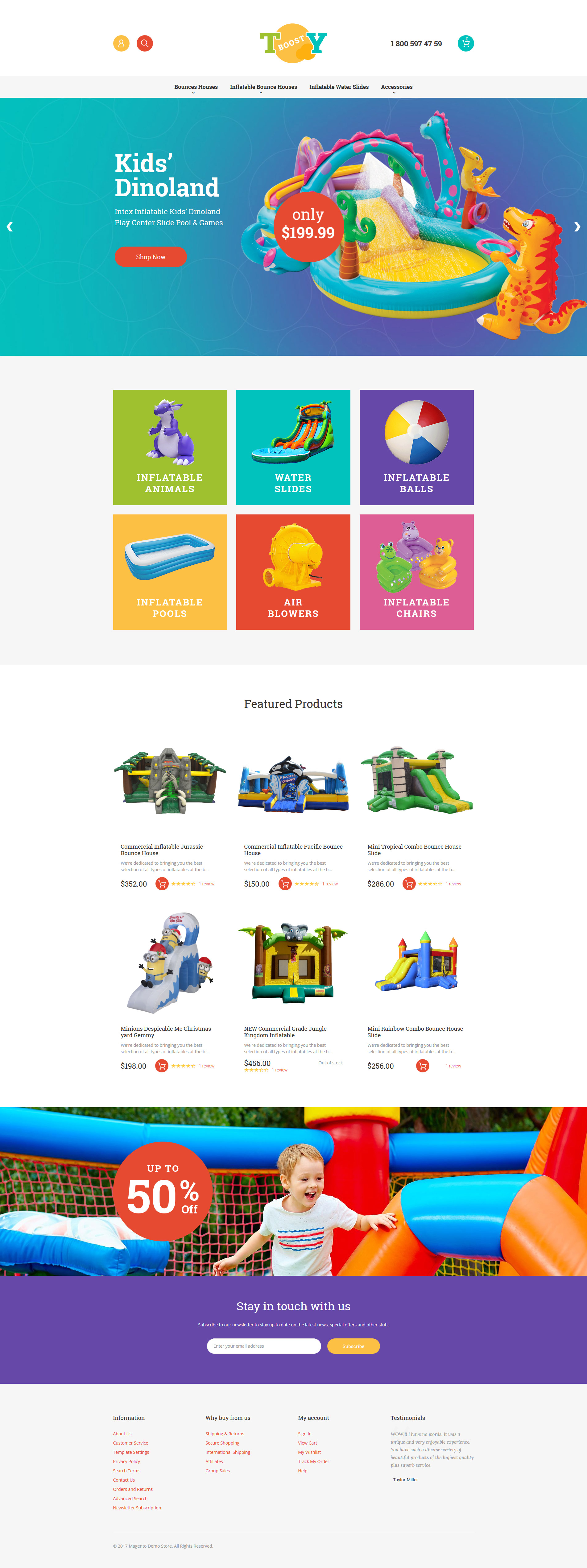 Inflatable Toys Magento Theme