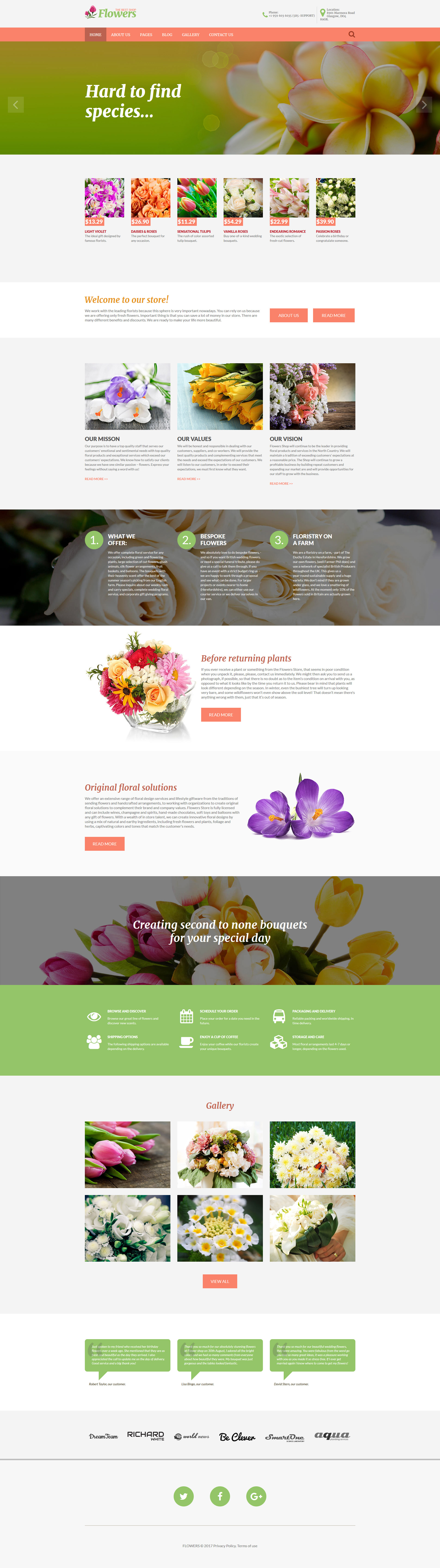 Flowers - Flower Shop Responsive Joomla Template