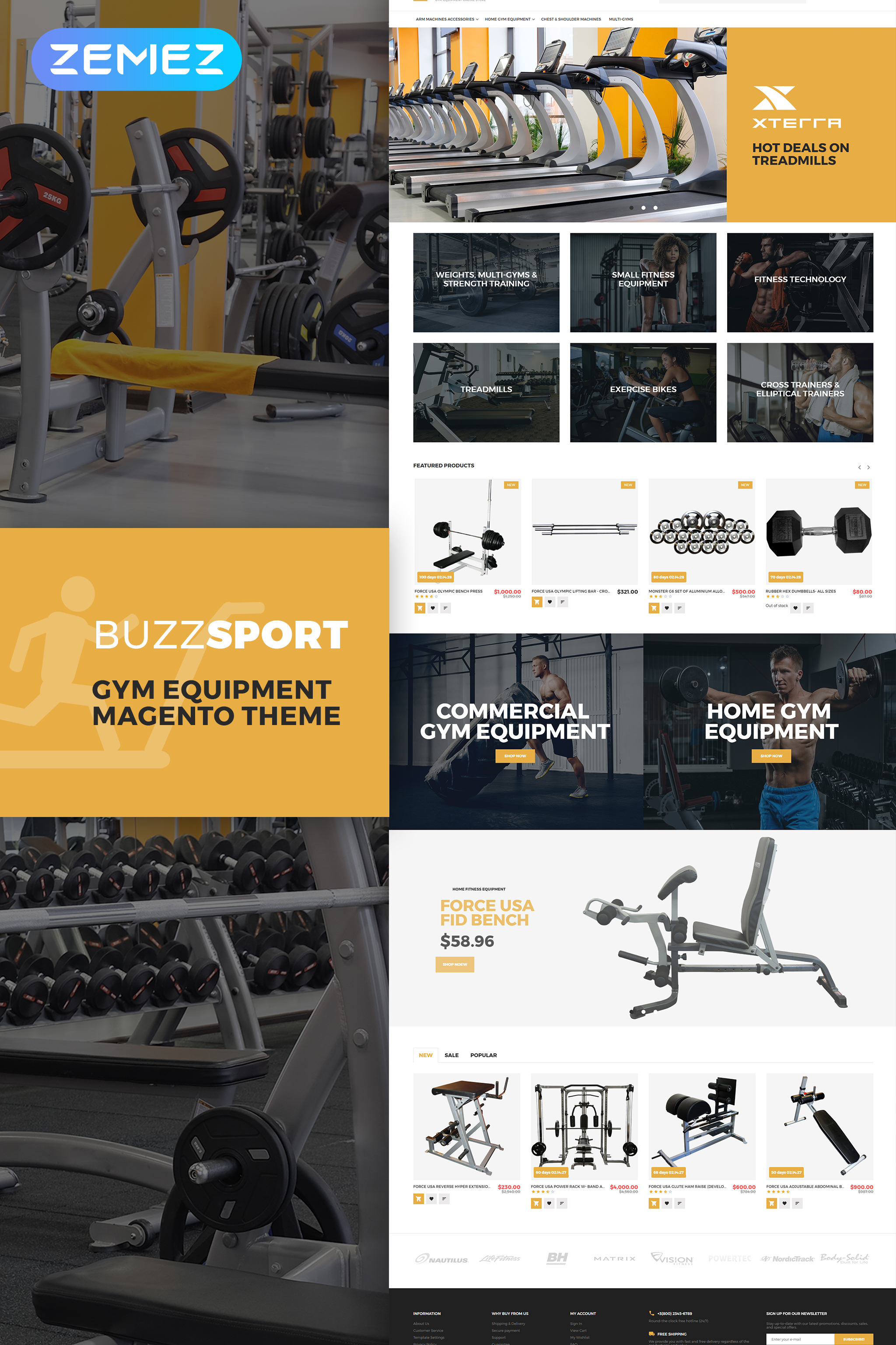 BuzzSport - Gym Equipment Magento Theme