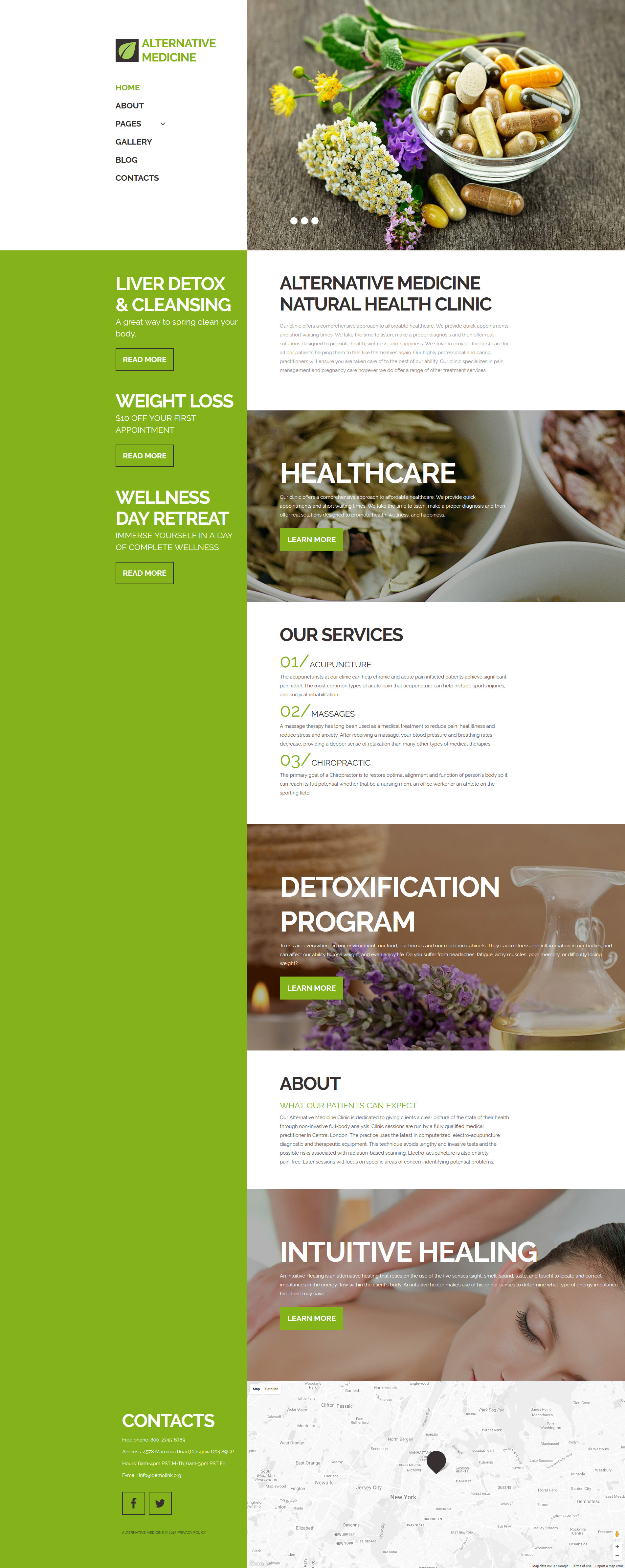 Alternative Medicine Clinic Responsive Joomla Template
