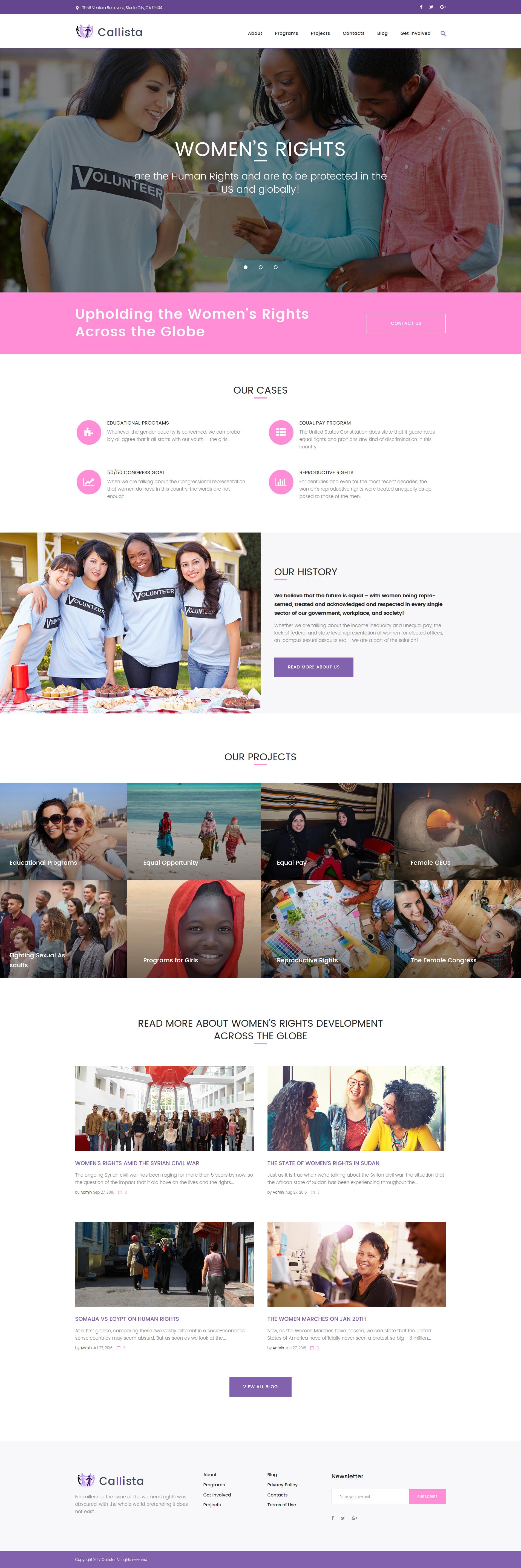 Шаблон Callista сайта на тему благотворительность #62359