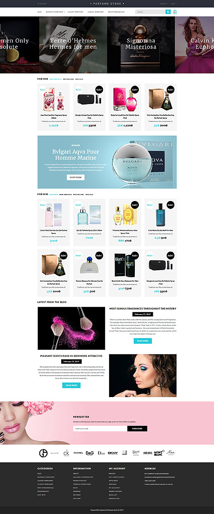 Template 62381 for Opencart template editor