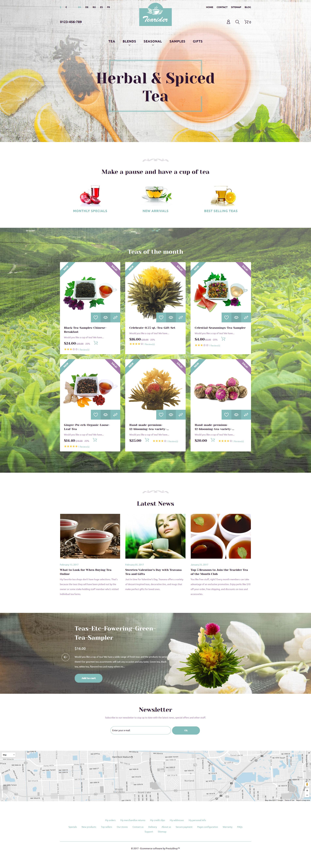 Tearider - Herbal & Spiced Tea Responsive PrestaShop Theme