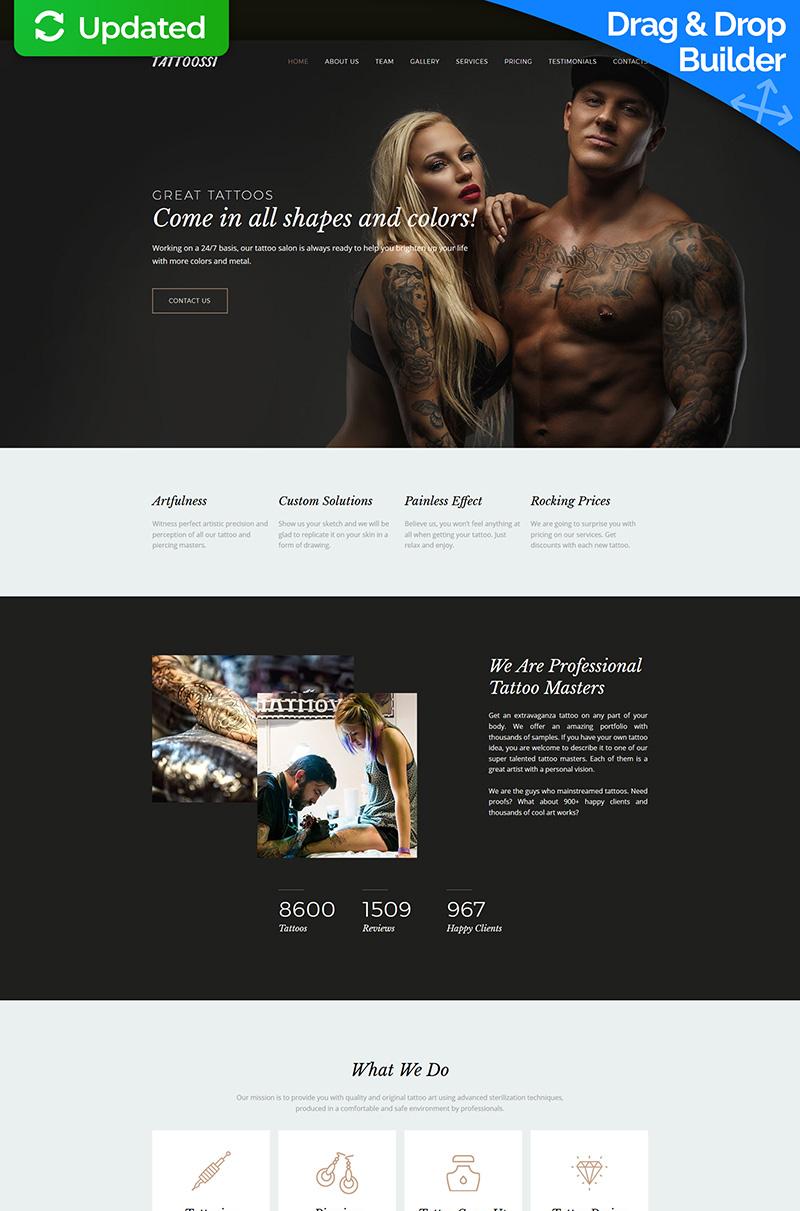 Tattoossi - Tattoo Salon Premium Moto CMS 3 Template