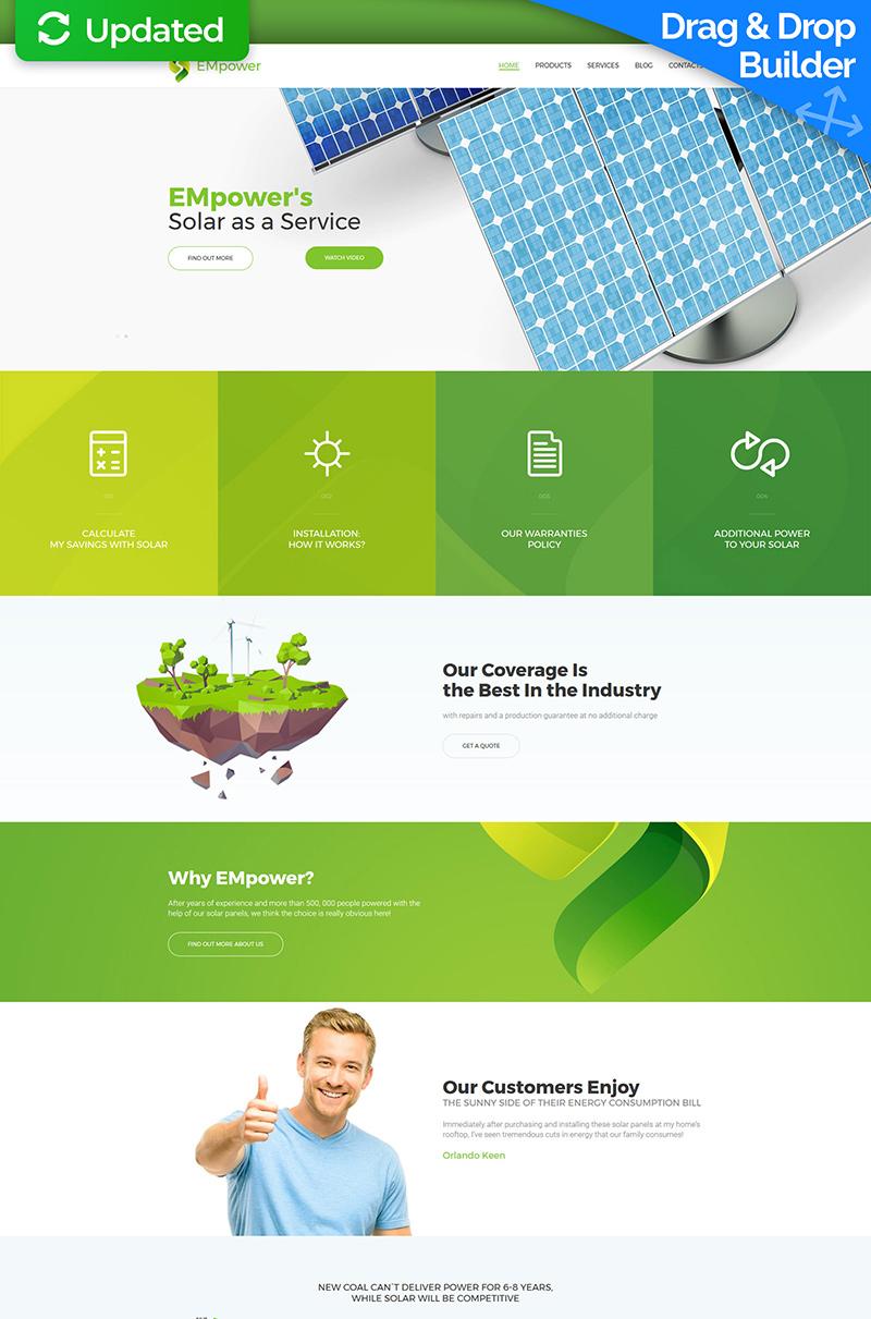 Solar Energy Moto CMS 3 Template