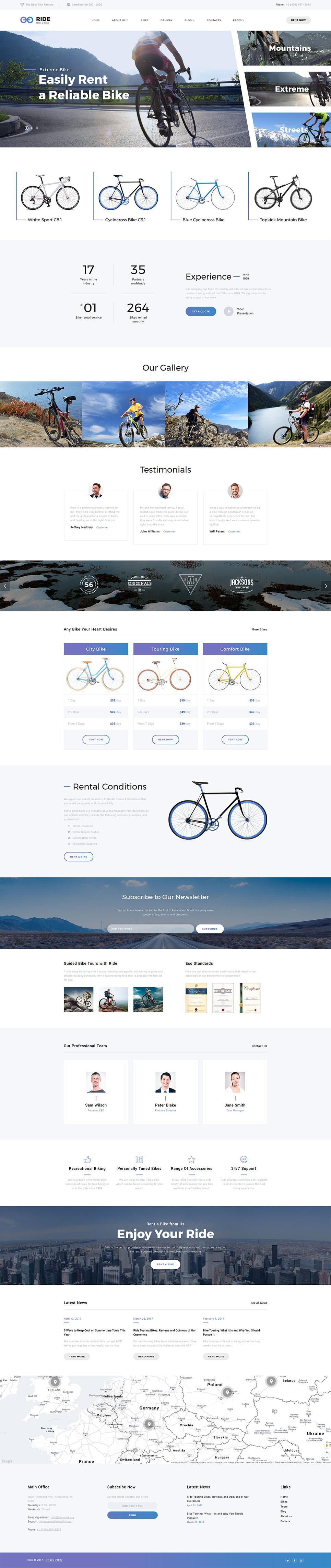 bike shop responsive website templates. Black Bedroom Furniture Sets. Home Design Ideas