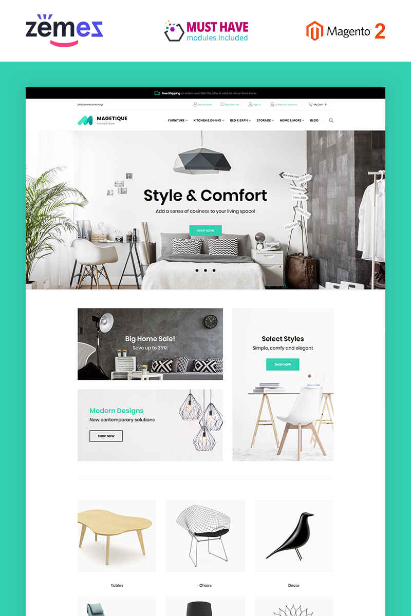 Magetique - Furniture Magento Theme
