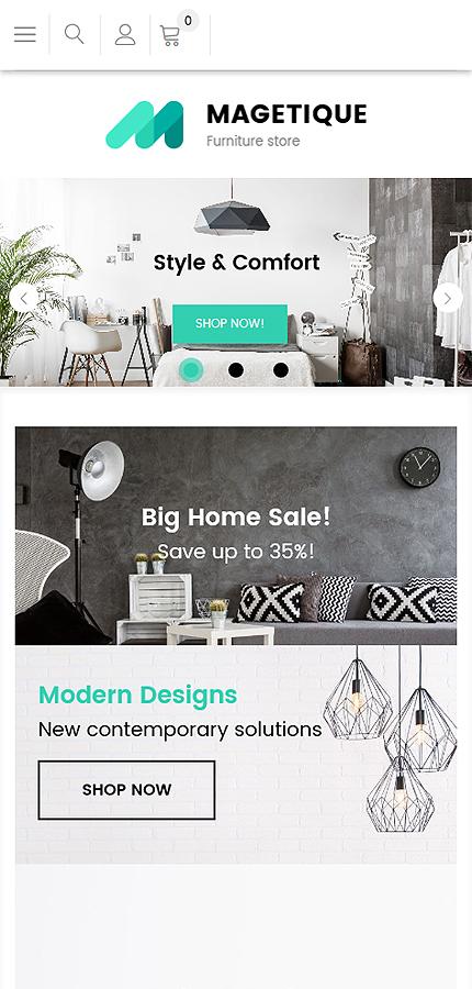 Plantilla para magento - Categoría: Decoración y muebles - versión para Smart Phone (Responsive)
