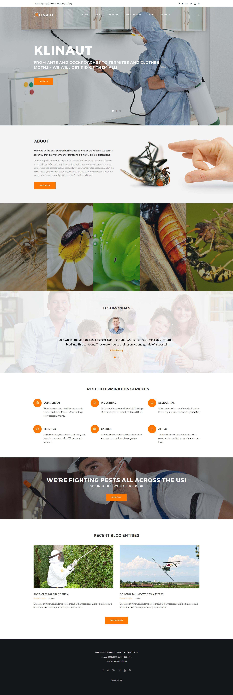 Klinaut - Pest Control WordPress Theme