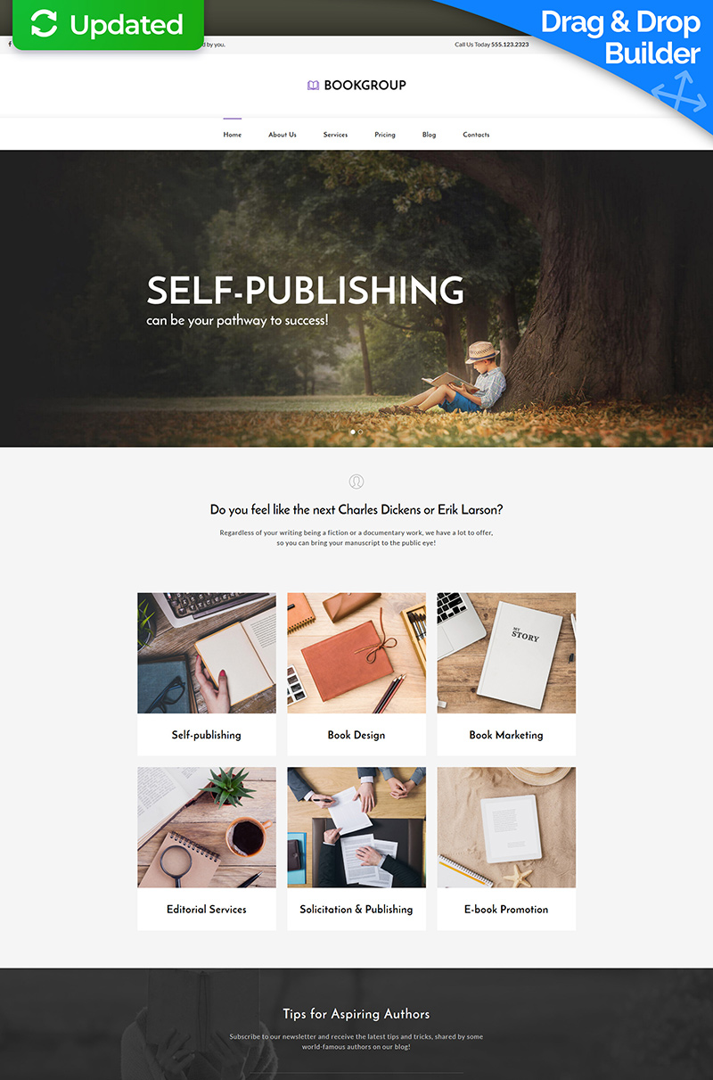 Book Publisher Moto CMS 3 Template