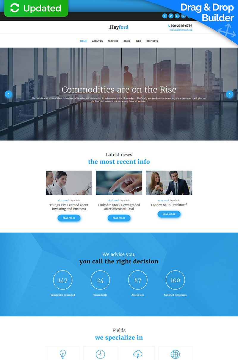 Investment Consulting Moto CMS 3 Template