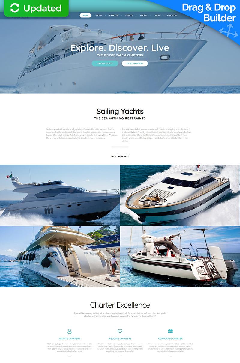 Yacht Charter Moto CMS 3 Template