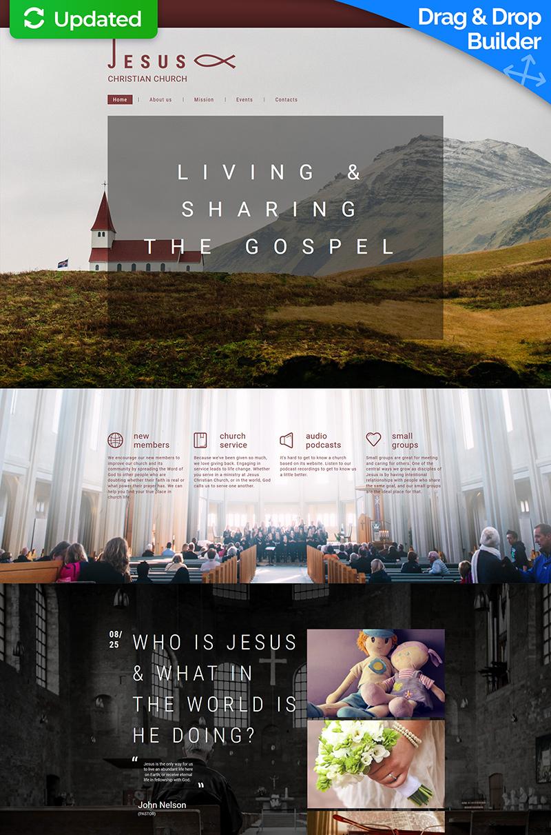 Jesus - Christian Church Moto CMS 3 Template